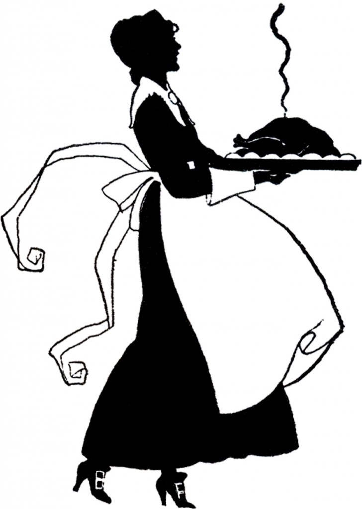 Thanksgiving Pilgrim Lady Silhouette