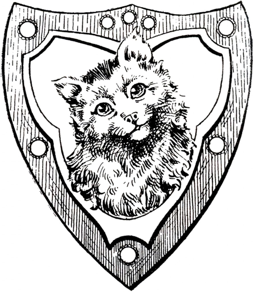 Vintage Cat Shield Image
