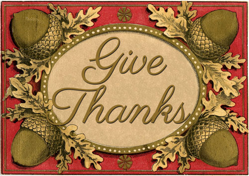 Give Thanks Printables  //  The Graphics Fairy