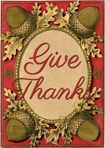 Give Thanks Printable  //  The Graphics Fairy