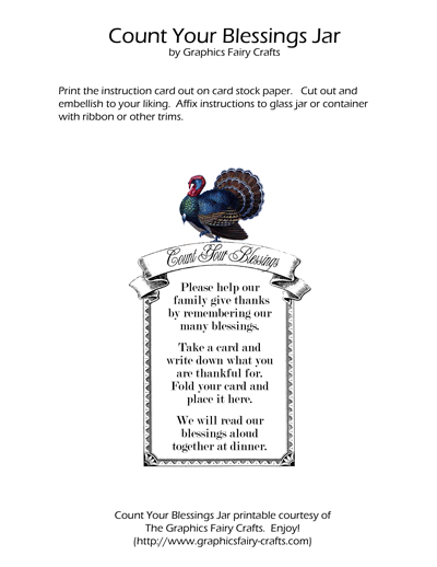 photograph relating to Blessings Jar Printable referred to as Rely your Blessings Jar Thanksgiving Printables - The