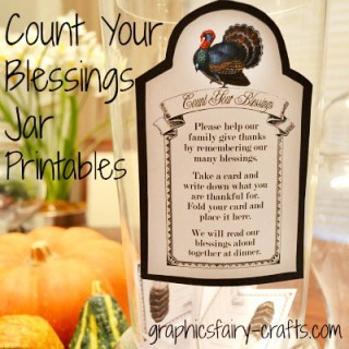 Count your Blessings Jar & Thanksgiving Printables