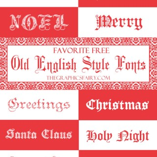 Favorite Free Old English Fonts – For the Holidays!