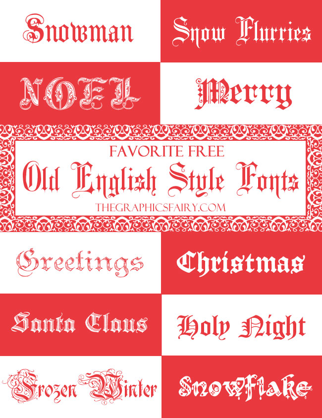 Favorite Free Old English Fonts The Graphics Fairy