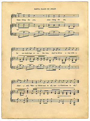 02 - Christmas Sheet Music - Santa