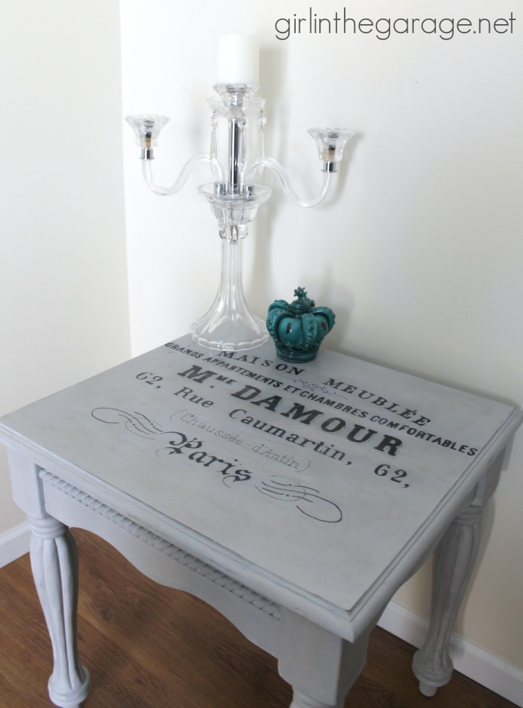02 - Girl in the Garage - Chalk Paint Table Makeover