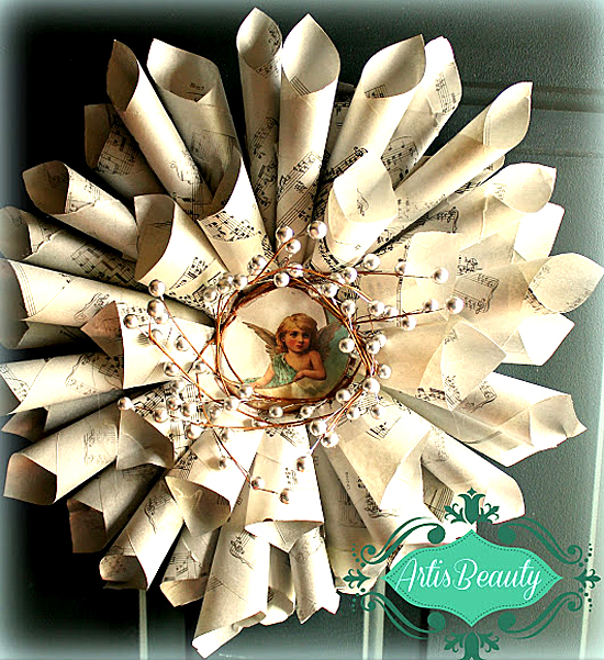 08 - Sheet Music Wreath