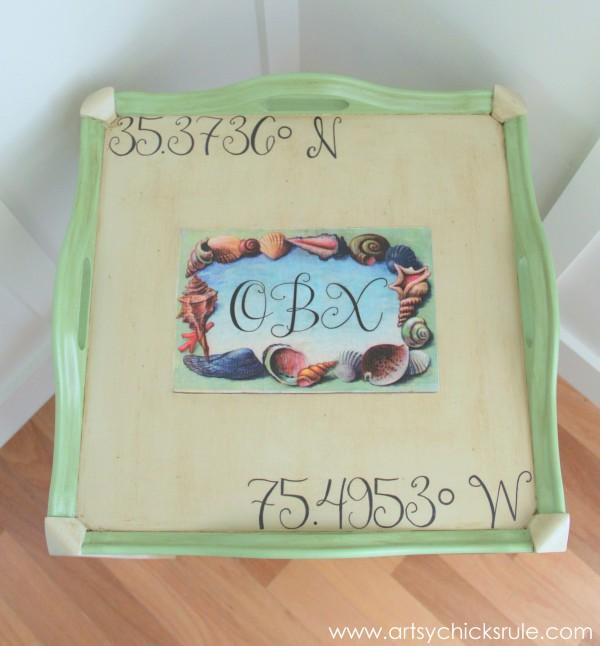 13 - Artsy Chicks Rule - OBX Beach Table