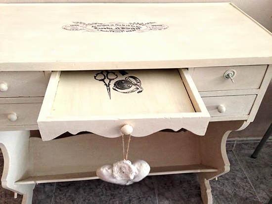 15 - My Sweet Things - Painted Sewing Table
