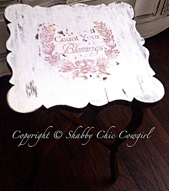 16 - Shabby Chic Cowgirl - Blessings Table