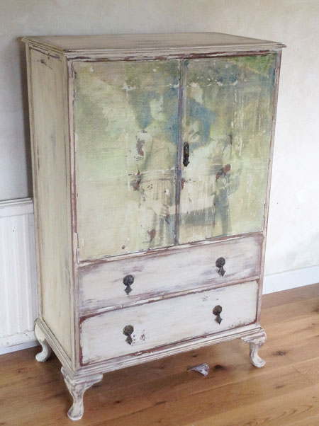 17 - Angel Painted Cabinet