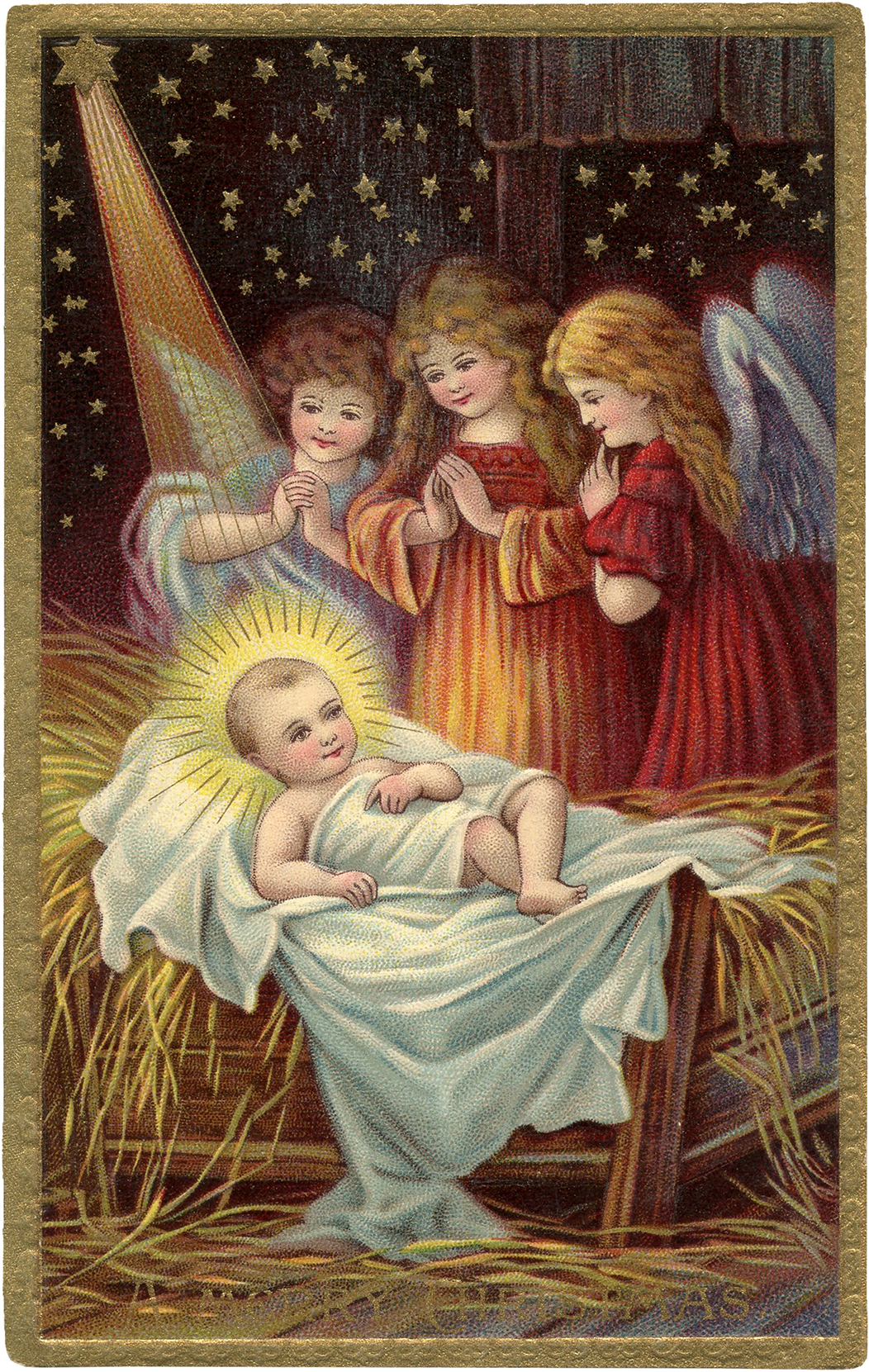 6 Vintage Christmas Nativity Images! - The Graphics Fairy