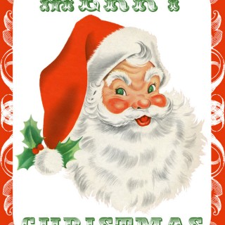 Retro Santa and Snowman Printables