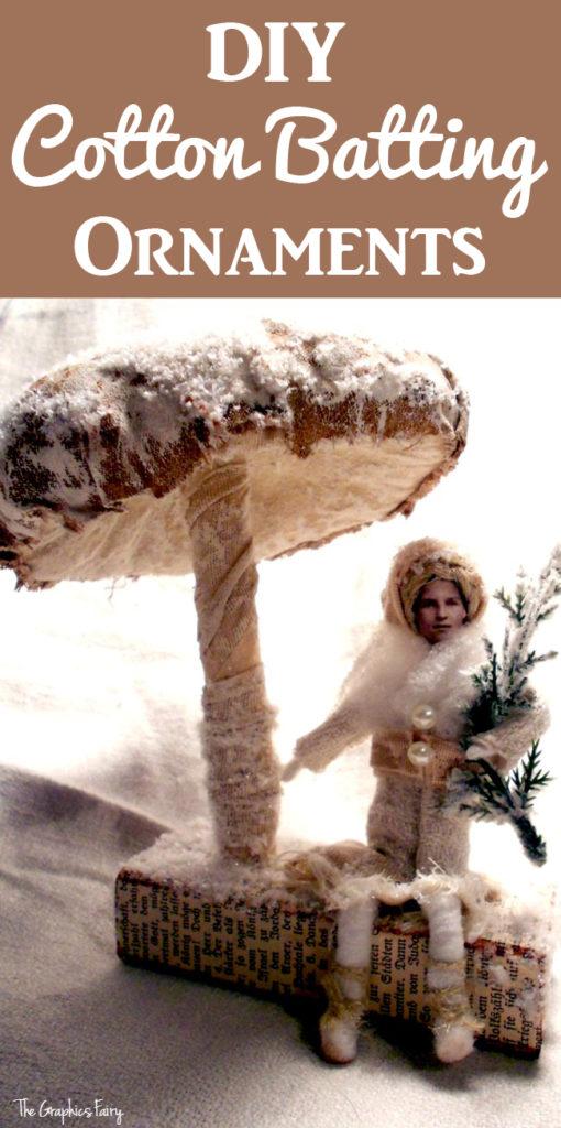 DIY Cotton Batting Ornaments
