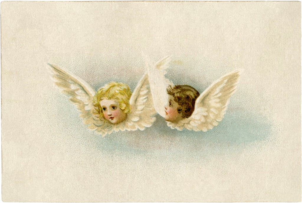 Free Vintage Angels Clip Art