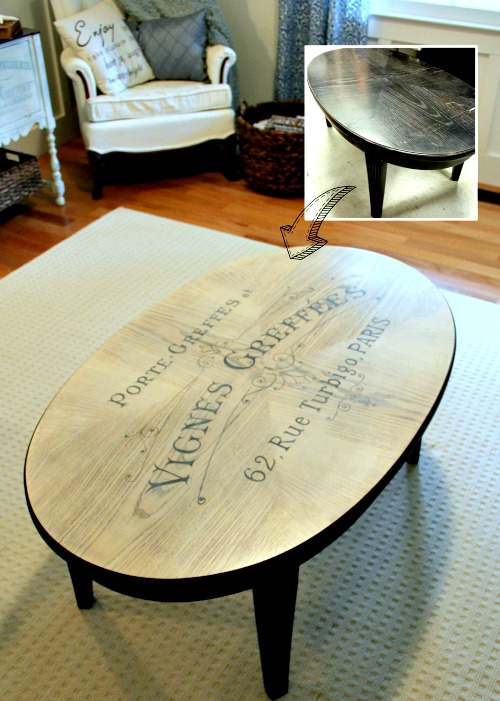 Diy coffee table makeover reader feature the graphics Eclectic coffee table makeovers