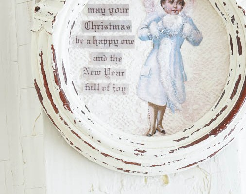 Make a Shabby Christmas Angel Ornament – White Lace Cottage