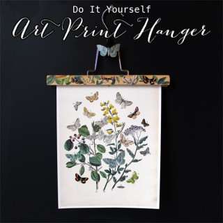 DIY Art Print Hanger – with Butterflies!
