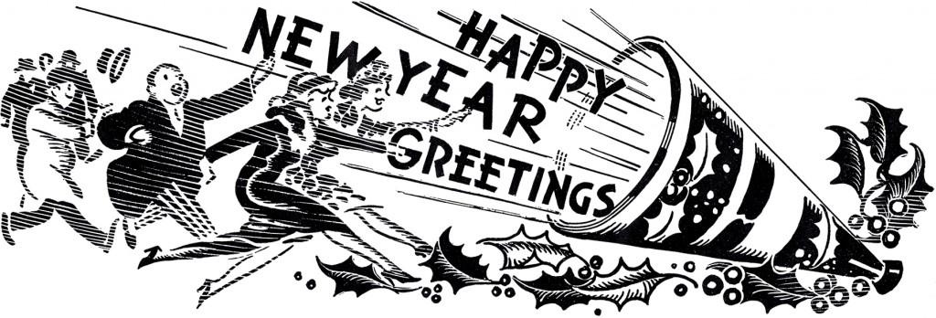Retro New Year Greeting
