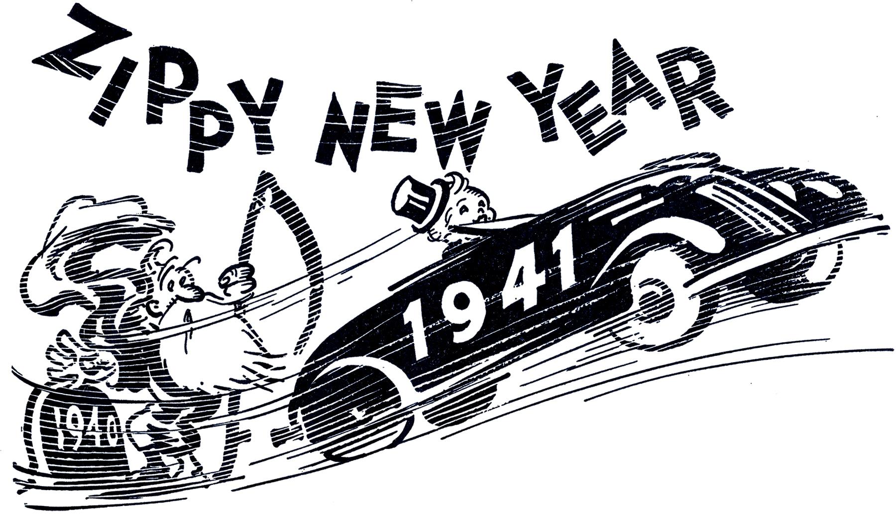 retro transportation new year clipart retro new year image