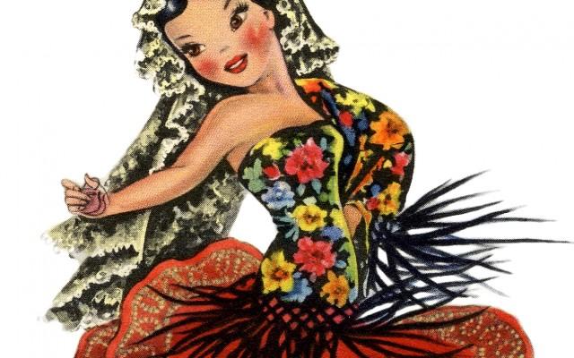 Gorgeous Retro Spain Doll Image!
