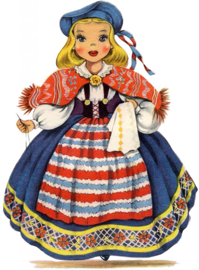 Retro Swedish Doll Image