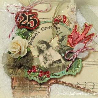 Pretty Mixed Media Skate Ornament – Full Tutorial!