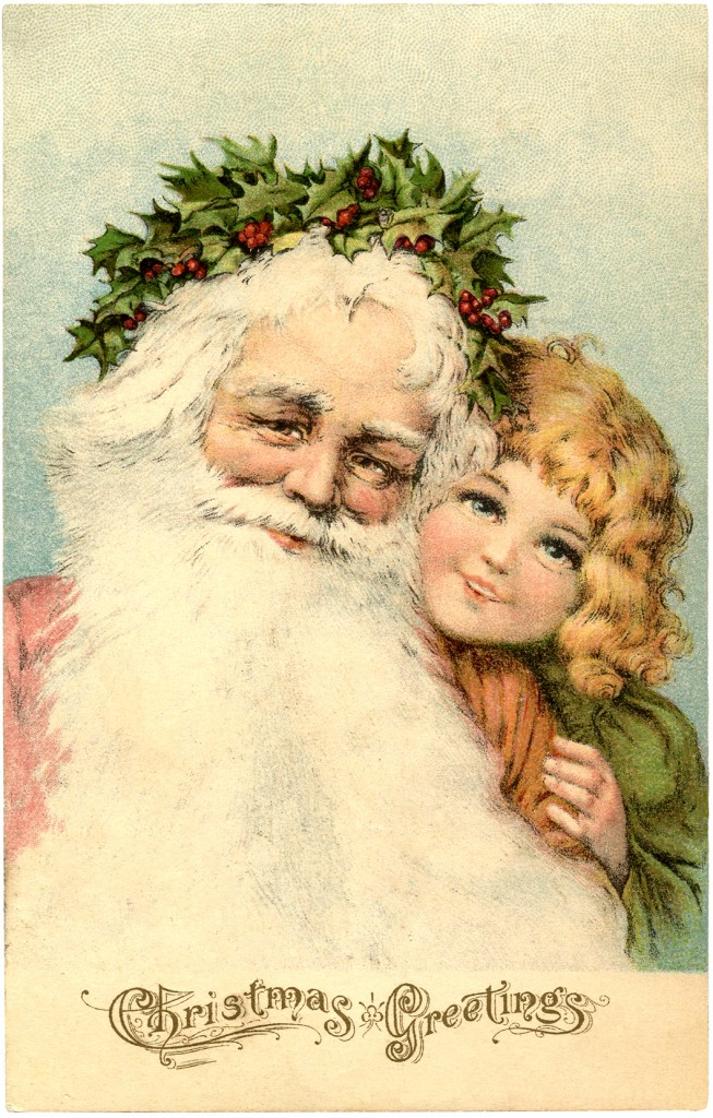 victorian santa postcard extra special the graphics fairy