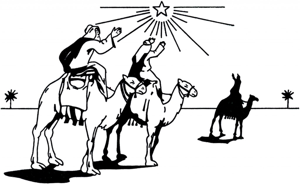 Vintage 3 Wise Men Image
