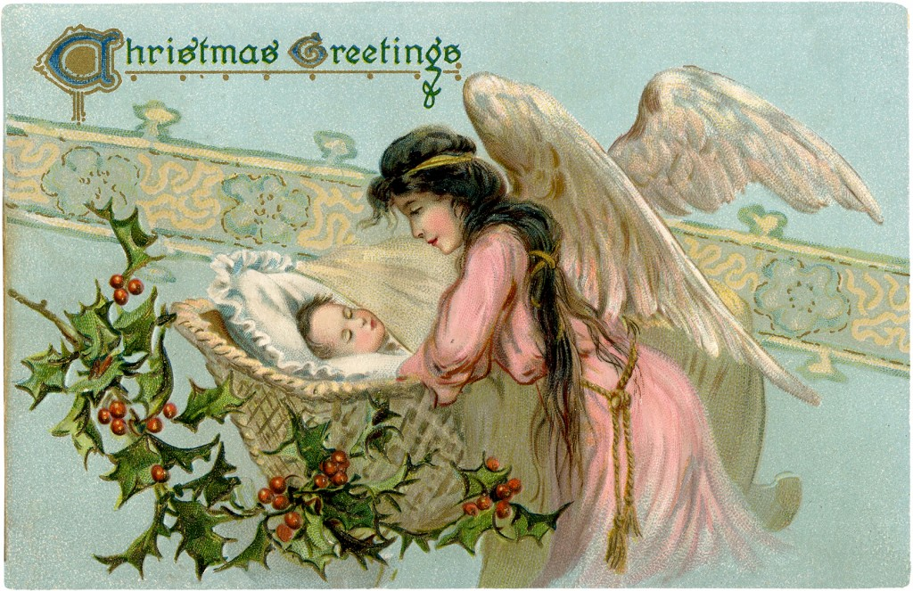 Vintage Angel With Baby Image Beautiful The Graphics