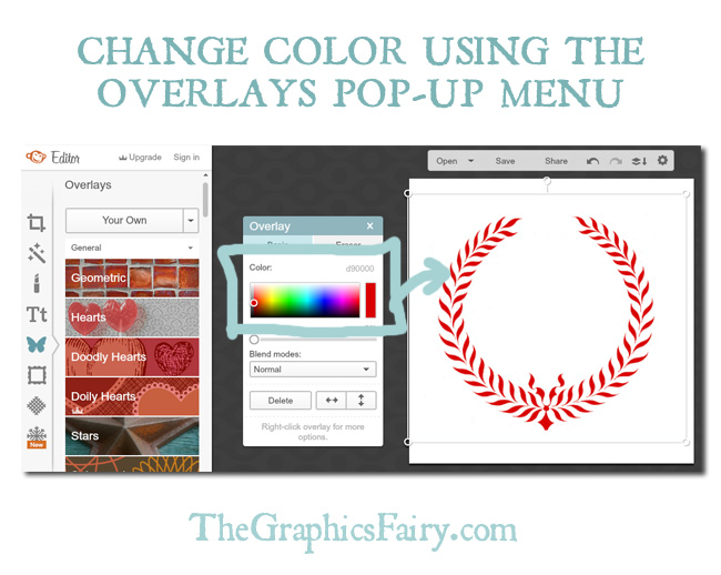 Change a black and white graphic to color // The Graphics Fairy