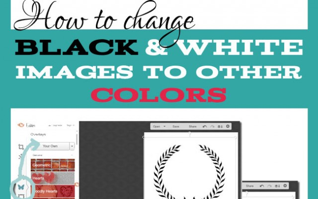 Change a black and white graphic to color