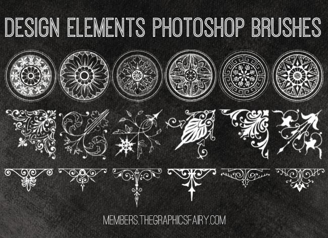 Photoshop Brush Set Design Elements