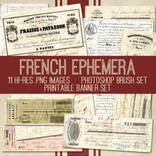 Fabulous French Ephemera Bundle! TGF Premium