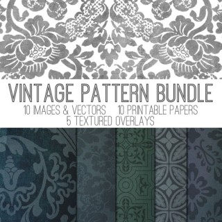 Stunning Vintage Pattern Collection! Overlays! TGF Premium