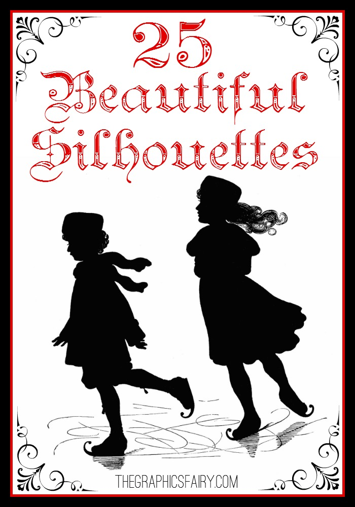 25+ Beautiful Silhouette Images! // The Graphics Fairy