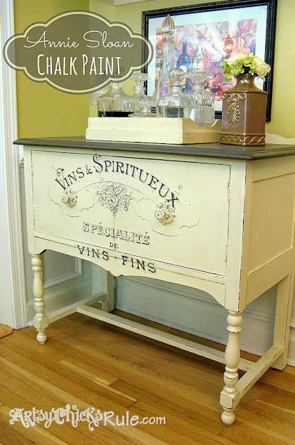 03 - Artsy Chicks Rule - Chalk Paint Sideboard