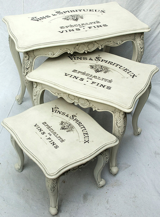 07 - Painted Vintage Nesting Tables