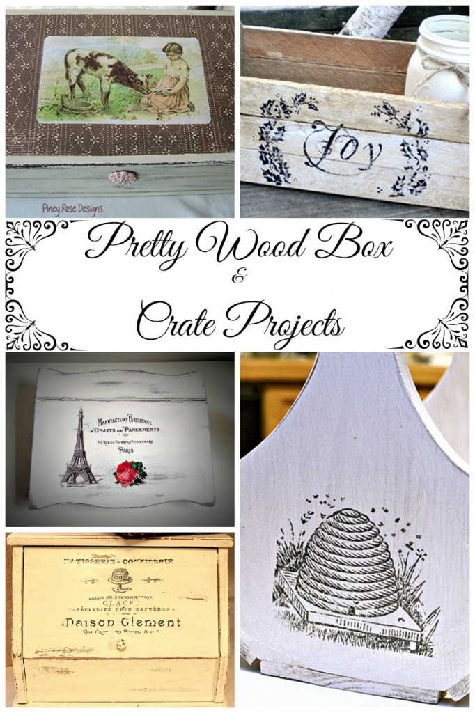 8 pretty wooden box and crate projects the graphics fairy for Pretty project
