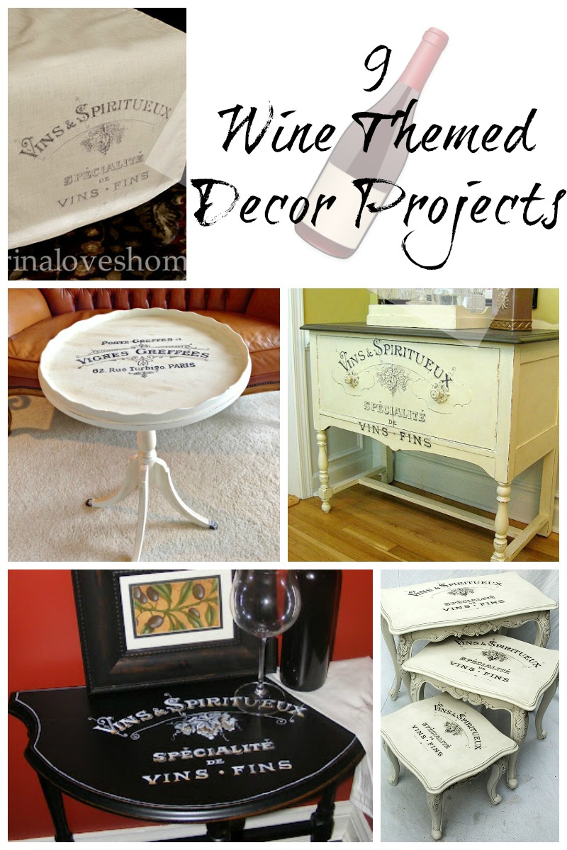 9 Wine Themed Decor Projects!  The Graphics Fairy. Big Living Room Set Up. Long Living Room With Fireplace At One End. Country Living Room Dining Room Ideas. Ideas For A Living Room