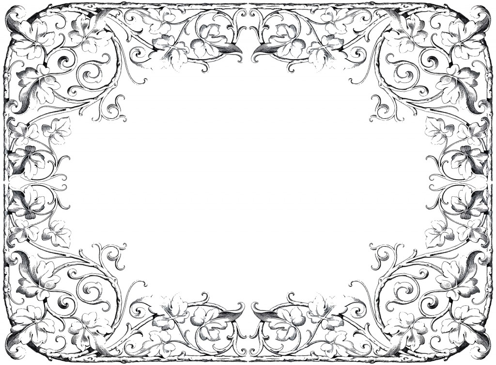 Antique Fancy Leaves Frame