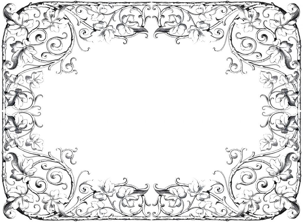 Antique Fancy Leaves Frame