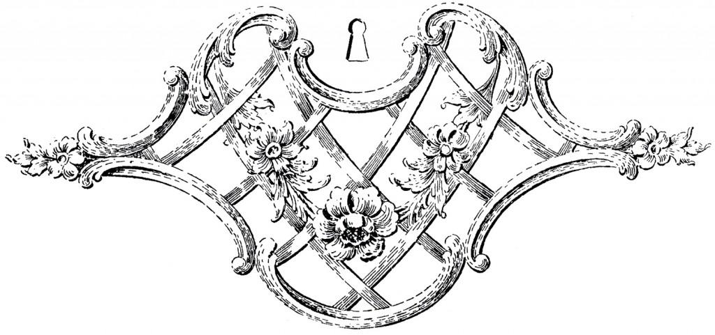 Fancy Keyhole Ornament