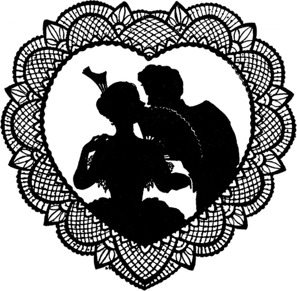 Lace Valentine Silhouette