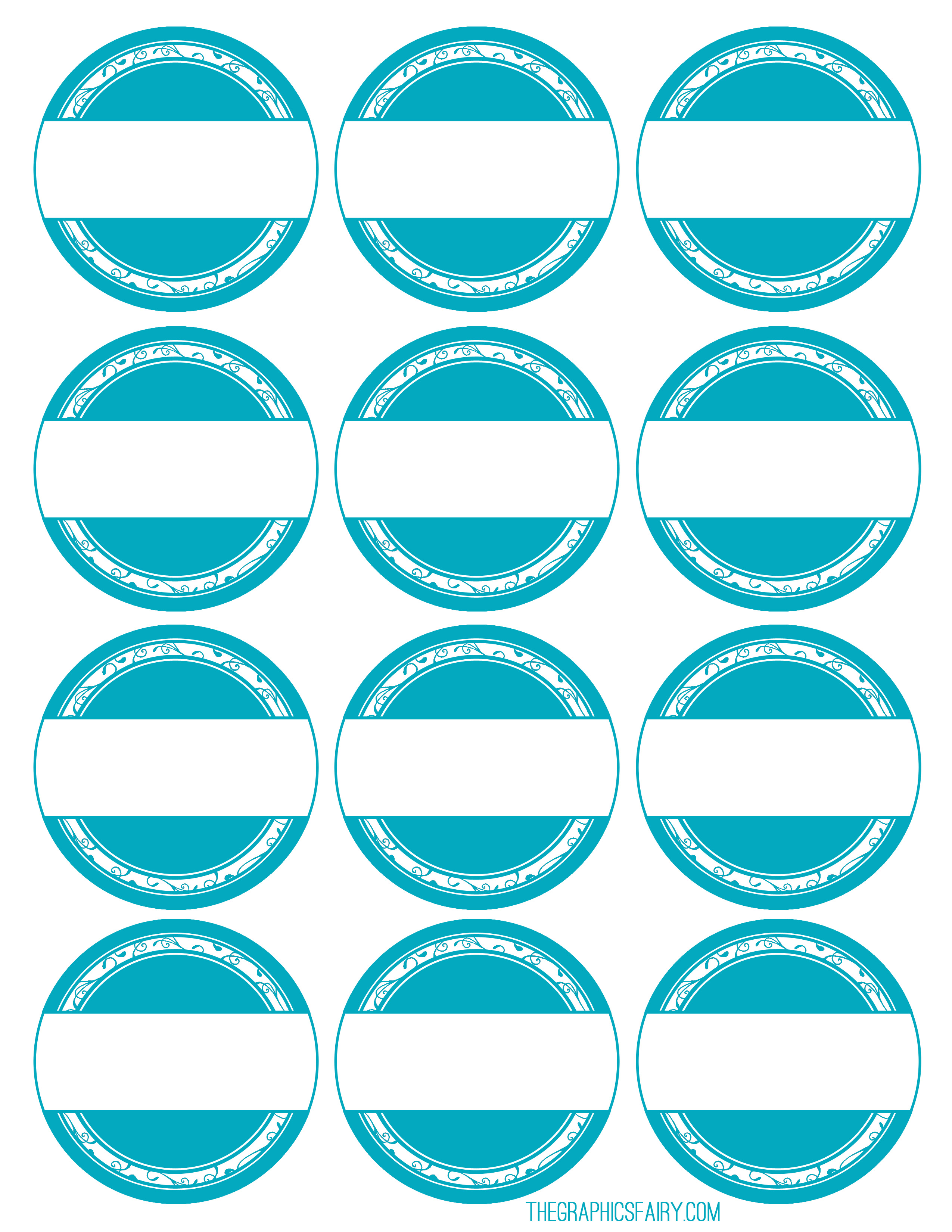 photograph about Printable Circle Labels known as Printable Storage Labels - The Graphics Fairy