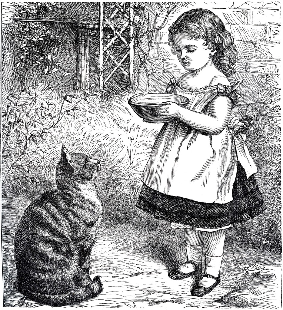 Public Domain Download Girl with Cat