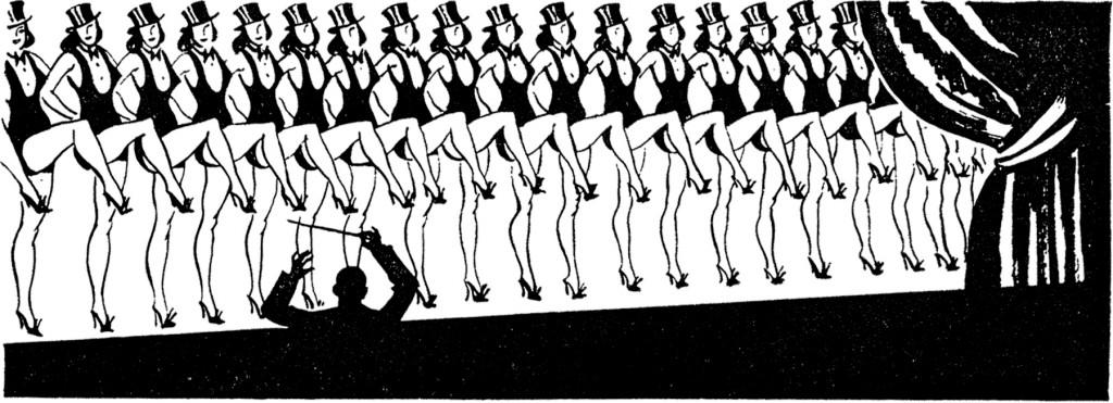 Retro Chorus Line Dancers Image