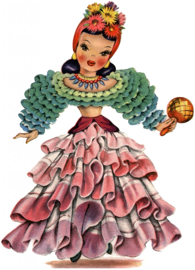 Retro Latin America Doll Image