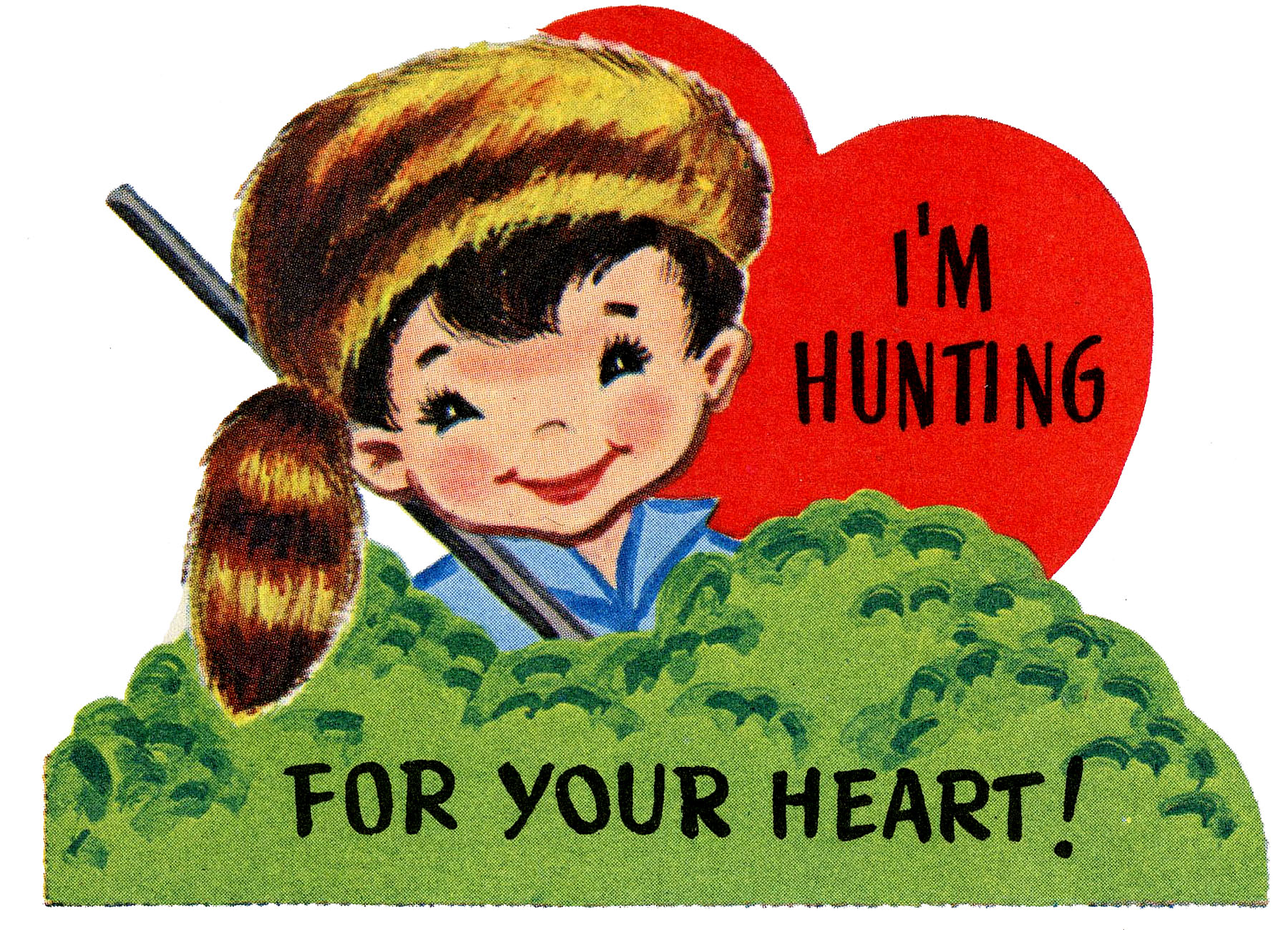 Retro Valentine Boy For Your Heart Picture