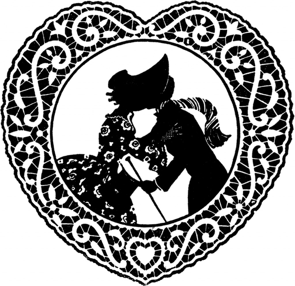 Vintage Doily Valentine Image!